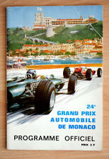 orginal Programm Monaco Grand Prix Brabham Siffert Clark Rindt Hill Stewart 1967