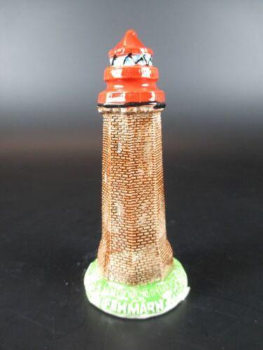 Leuchtturm Flügge Fehmarn,10 cm aus Keramik Glanzoptik Souvenir Modell,Neu