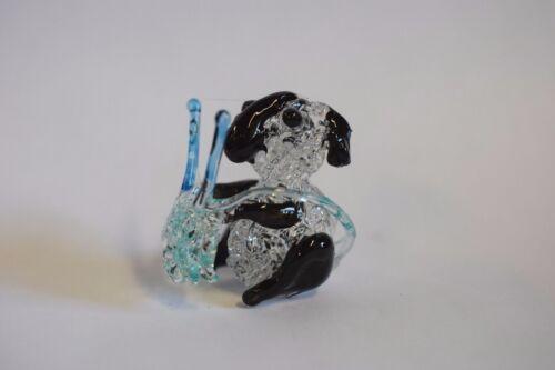 Knitting Sheep Hand Blown Glass turquoise