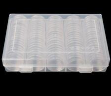 100 CAPSULES NEUVES pour ranger vos pieces de 2 euros Diamètre 27 mm Coin box
