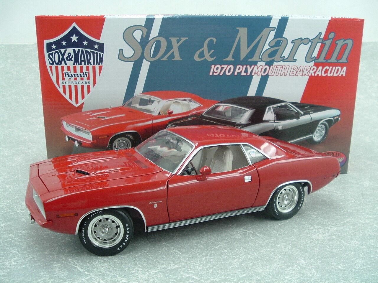 1970 Sox & y Martin Ronnie Sox Gran Coupe 1 18 RW Edición Limitada Barracuda Cuda