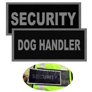 REFLECTIVE-BADGES-PACK-OF-2-hi-viz-tactical-vest-Insert-pocket-badges-BLACK