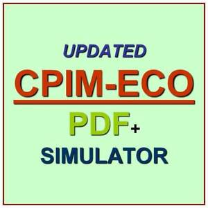 APICS Certified Execution /& Control of Operations Test CPIM-ECO Exam QA PDF/&SIM
