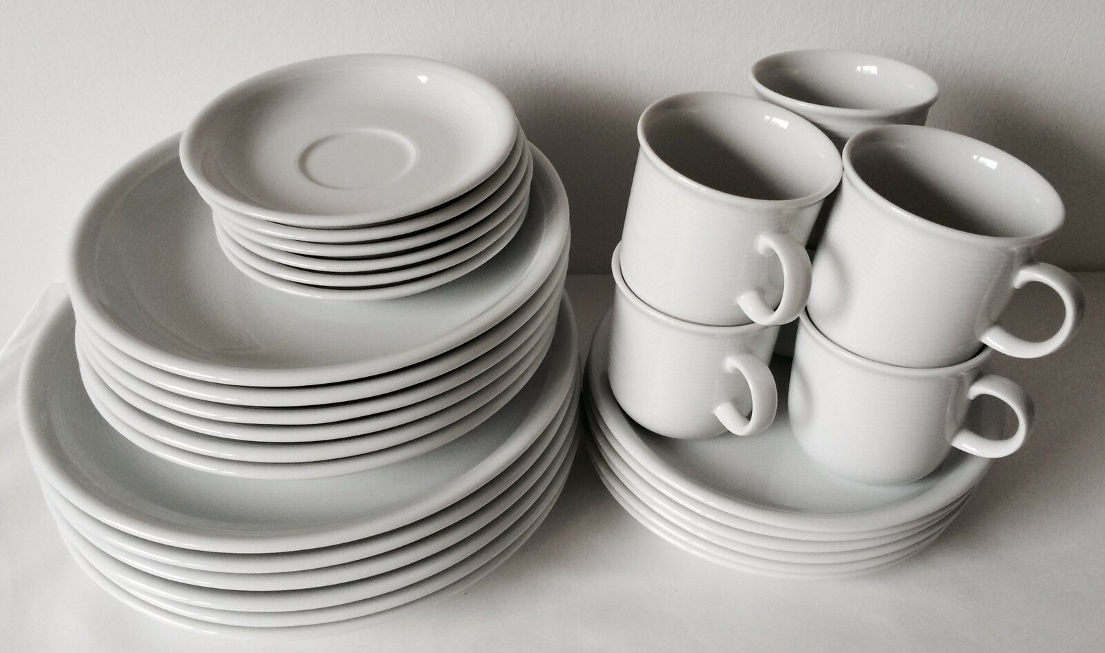 31 pièces Thomas Trend Blanc Vaisselle Set avec gobelet 0,28-ltr. et cafetière