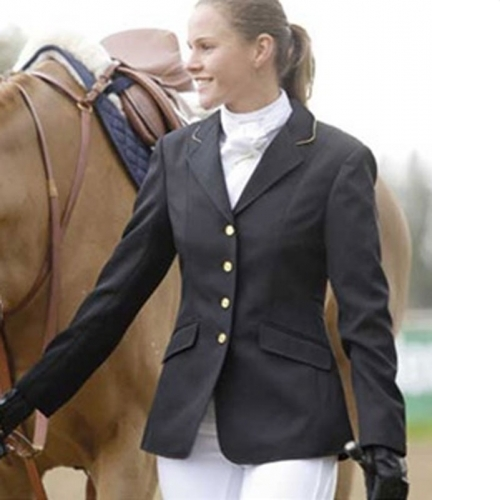 BRAND NEW SHIRE EQUESTRIAN ENGLISH SHOW JACKET NAVY LADIES SIZE 10