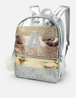 Glitter Stripe Initial Mini Backpack
