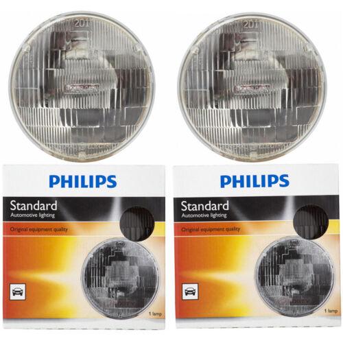 Two Philips Standard Sealed Beam Light Bulb H6024C1 for H6024 PAR-56 12.8V ij