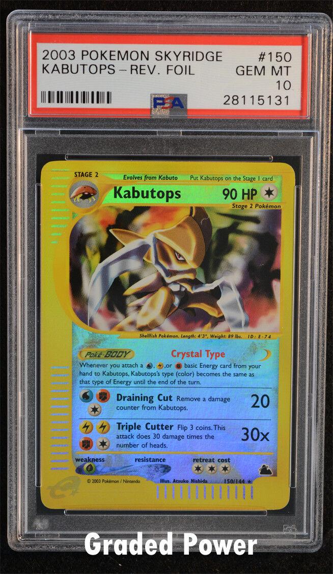 Pokemon Skyridge Kabutops PSA PSA PSA 10  150 144 - Holo Reverse Holo 02094d