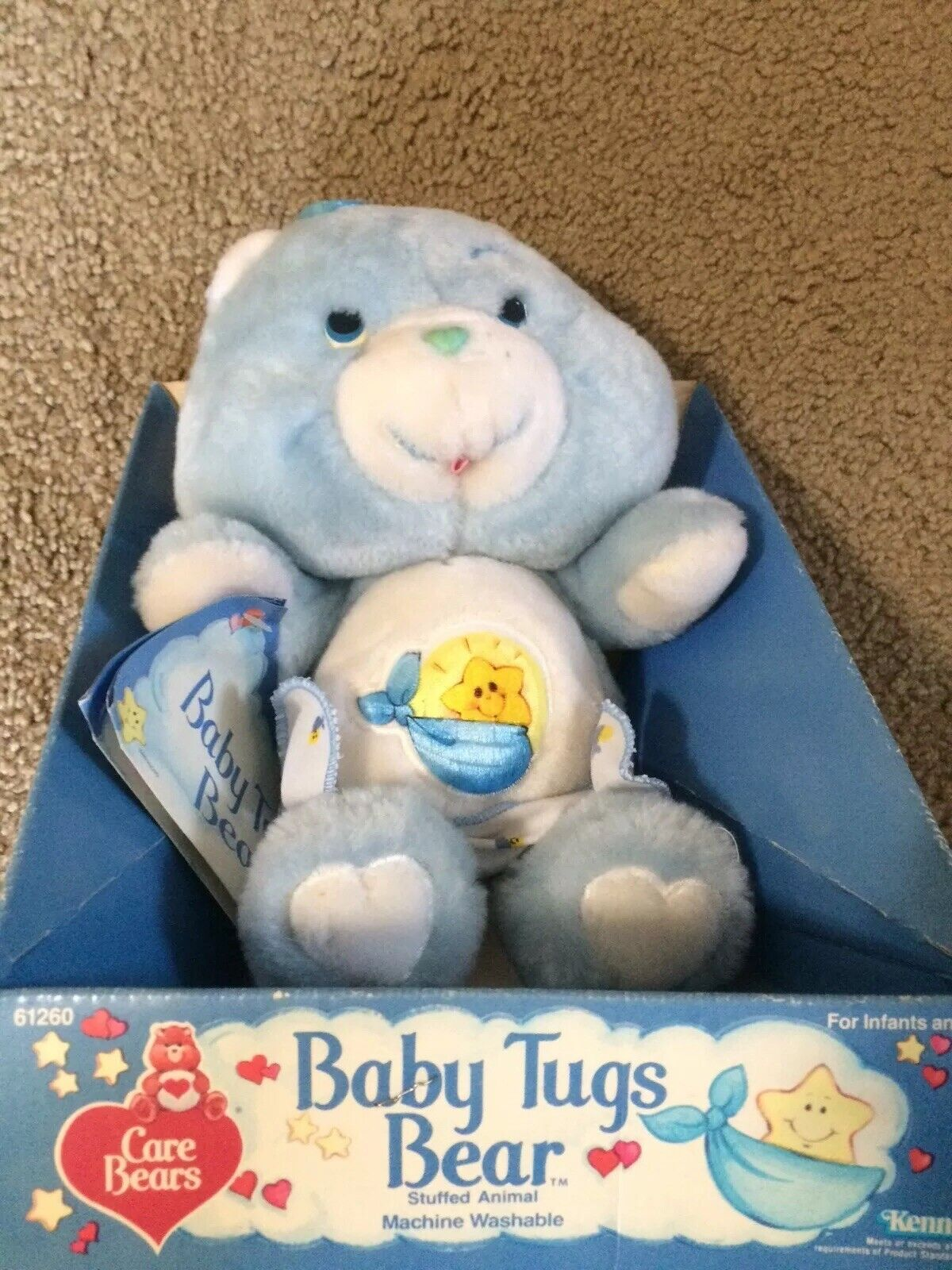 1985 vintage Kenner bambino TUGS orso autoe orsos plush giocattolo bambola nuovo cute