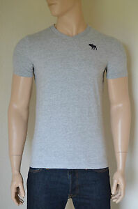 5490e8dc NEW Abercrombie & Fitch Classic V-Neck Moose Tee T-Shirt Grey S | eBay