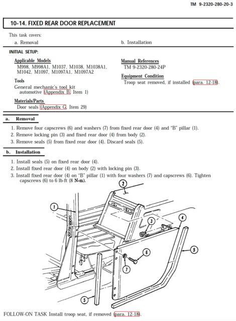 11 500 page m998 army hmmwv hummer humvee repair operator parts rh ebay com M1120A4 m1097 parts manual 24p