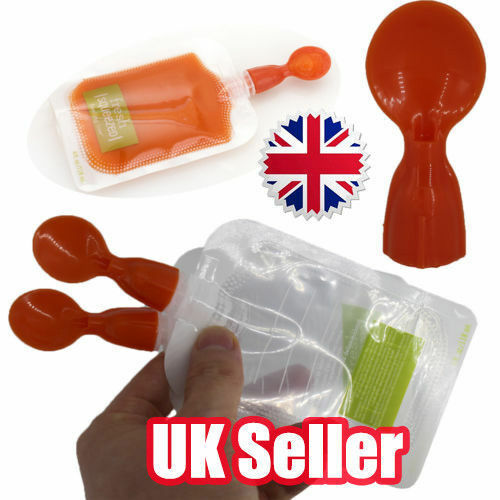 Silicone Squeeze Soft Tip Baby Feeding Spoons for Reusable Food Pouch AK