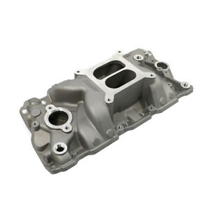 Details about SBC Small Block Chevy High Rise Dual Plane Aluminum Intake  Manifold 350 383