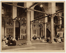 Héliogravure par Lehnert & Landrock vers 1910 La mosquée El Mouayad Egypt Cairo