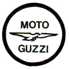 MOTO GUZZI BIKER  vintage sew on printed patch  motorcycle