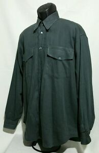 Versace-Jeans-Couture-LS-Button-Front-Shirt-Gray-Made-in-Italy-Men-039-s-Large