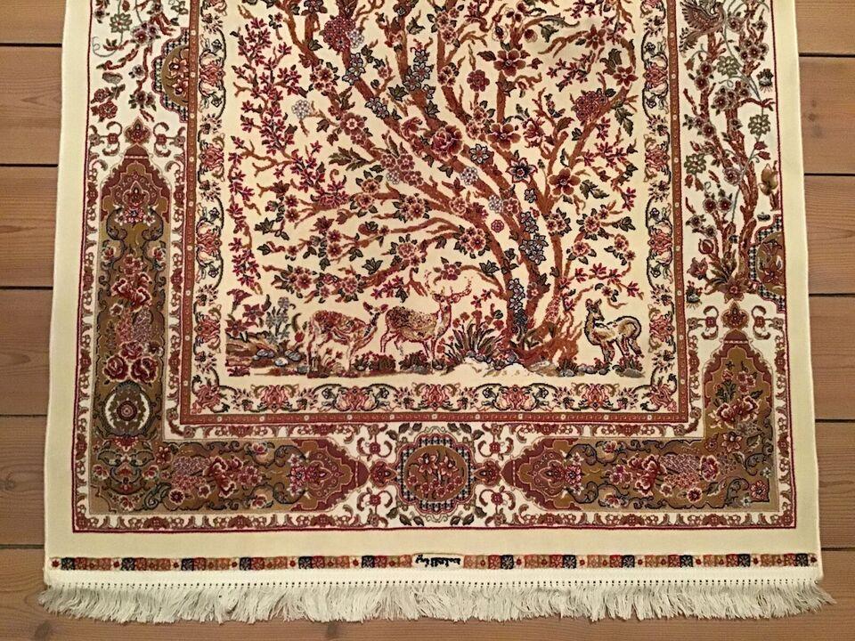 Gulvtæppe, ægte tæppe, Silk på bomuld