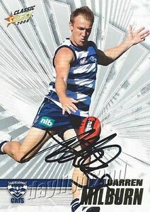 Signed-2008-GEELONG-CATS-AFL-Card-DARREN-MILBURN