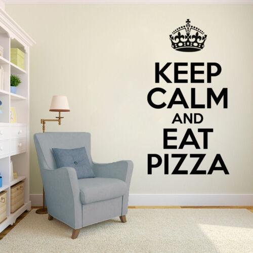 Keep Calm Eat Pizza Wandtattoo Black Italien Genuss Pasta Spruch Küche Essen