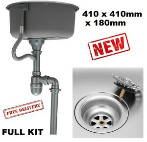 Motorhome-Camper-Small-Sink-Set-Waste-Ideal-Replacement-or-Self-Build-Project