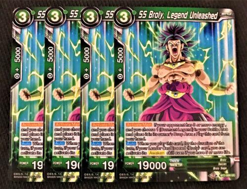 Legend Unleashed BT7-069 UC Dragon Ball Super TCG NEAR MINT 4x SS Broly