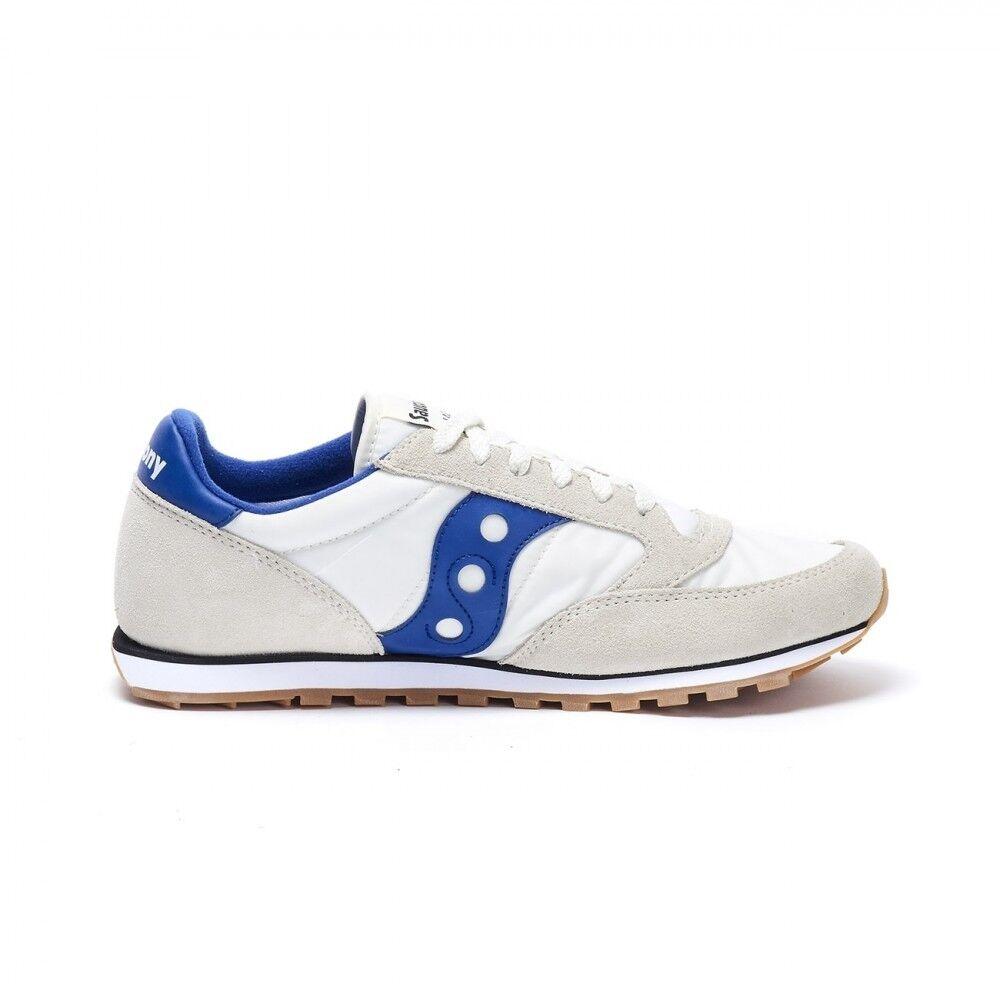 Jazz Lowpro Running Shoes (Cream/Blue