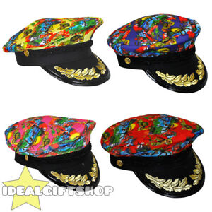 HAWAIIAN TROPICAL SAILOR CAPTAIN HATS FANCY DRESS MENS WOMENS SUMMER ... 246606fcd77a