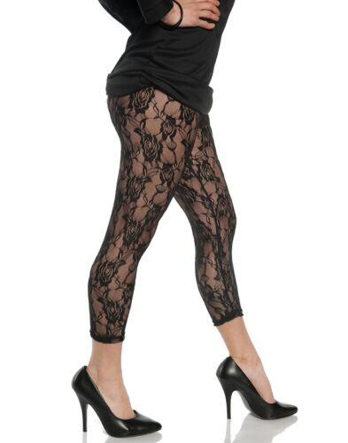 Lace Black Womens Adult 80S Diva Rocker Dance Costume Leggings