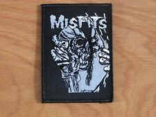 MISFITS - SKULL & EYEBALL (NEW) SEW ON EMBROIDERED PATCH OFFICIAL BAND MERCH