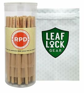50-RAW-Medium-Size-Pre-Rolled-Cones-034-98-Special-034-with-Leaf-Lock-Gear-Smell-Proof