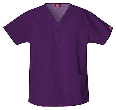 NEW Dickies Medical Uniforms 810506 Everyday Missy Fit Nurses Scrub Top XXS-5XL