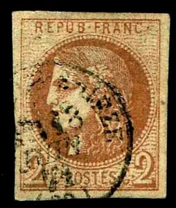 1870-71-France-39-Bordeaux-Issue-Used-VF-CV-225-00-ESP-3653