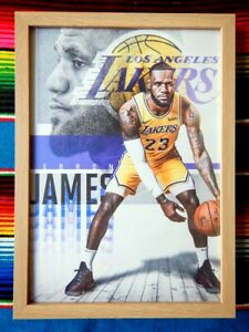 Framed-LEBRON-JAMES-LA-Lakers-NBA-Basketball-Poster-45cm-x-32cm-x-3cm