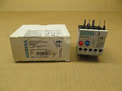 Siemens 3RU1116-1ABO Overload CLS 10 1.1-1.6Amp Relay New Quantity-1