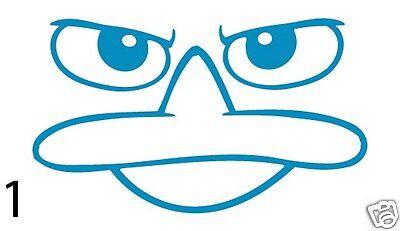 Perry The Platypus Cartoon Window Car Truck Laptop Vinyl Decal Sticker Ebay