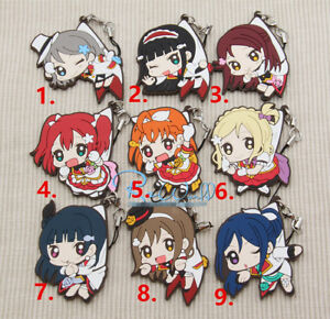 T204 Hot Japan anime Love Live Lovelive strap rubber Keychain Key Ring Rare
