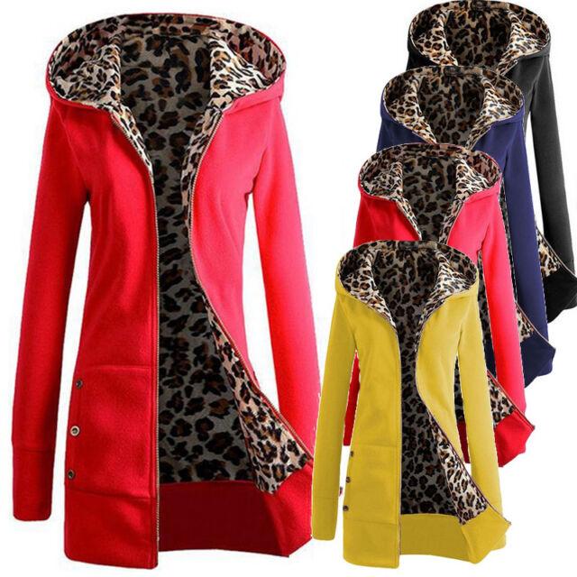 UK Womens Sweater Coat Hooded Parka Ladies Casual Jumper Jacket Outwear Hoodies