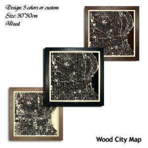 Wood-City-Map-Milwaukee-USA-Decor-Picture-Town-Village-Laser-Cut-Wall-Art-30x30