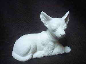 "C091 - Ceramic Bisque 3"" T & 4"" W Chihahua Dog (Nowells) - Ready to Paint"
