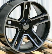 24 Inch Black Machined Replica 238 G07 Silverado Sierra Yukon Wheels Rims 22 26