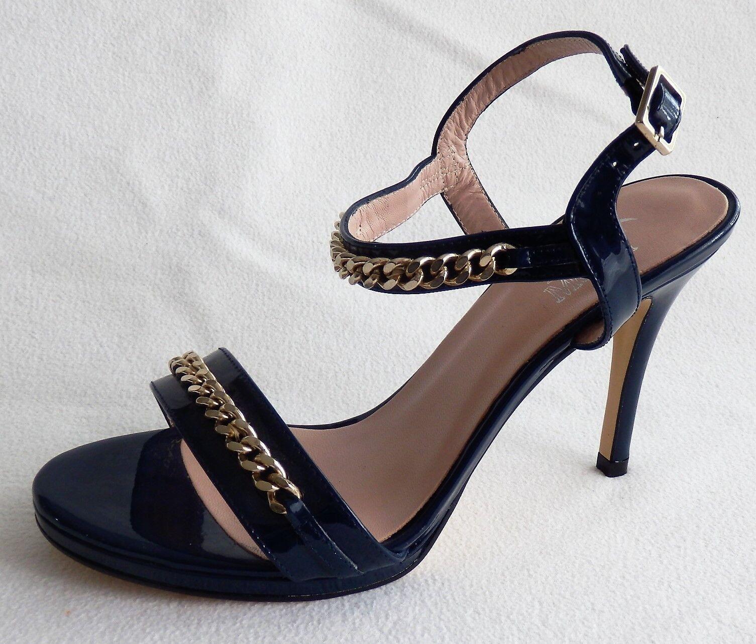 Alba Moda High Heel neu Sandalette marine Gr. 38 neu Heel 0ec3d4