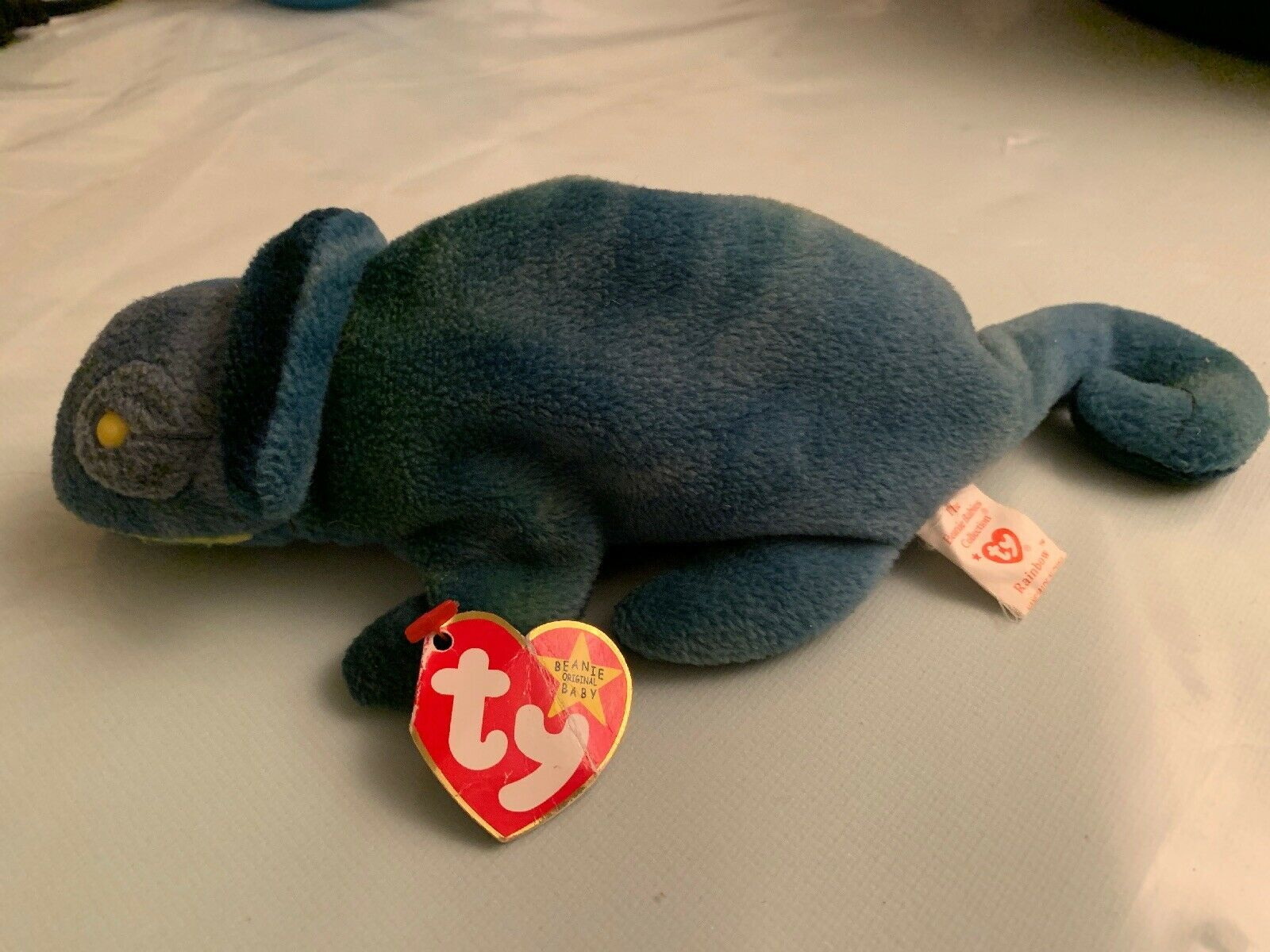 Rare Ty Original Beanie Baby  Rainbow  1997. Retired TRUE error story