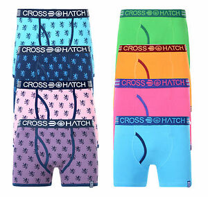 Crosshatch-Mens-Boxer-Shorts-Underwear-Cotton-Stretchy-Sporty-Trunks-Print-Plain