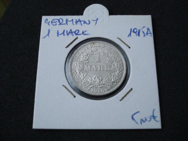 Germany, Empire, 1 Mark, 1915 A, silver, UNC