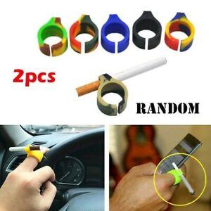 2pc-Creativa-Dito-Protezione-Silicone-Sigaretta-Porta-Anello-Fumare-Accessori