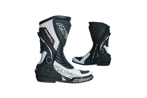 RST TRACTECH EVO 3 SPORT MOTORCYCLE BOOT BLACK//WHITE 45