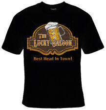 Lucky Saloon Mug Beer Best Head In Town Foam Pint Glass Bar Sex Of Men/'s Thermal