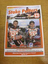 26/06/2011 Speedway Programme: Knockout Cup Semi-Final - Stoke Potters v Dudley
