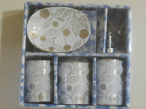 4Pc-Ceramic-Bathroom-Accessory-Set-Soap-Dish-Dispenser-Toothbrush-Holder-Gloss-O