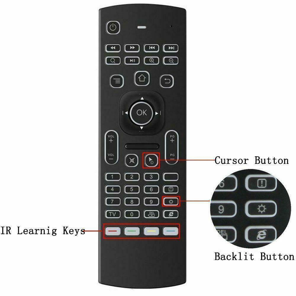 2.4GHz Wireless Gyroscope Fly Air Mouse Game Keyboard Remote Controller Keyboard for Android Smart TV Box Mini PC